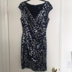 Lauren Ralph Lauren Lace Sequined Sheath Dress